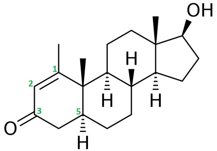 Methenolone (Primobolan) structural formula