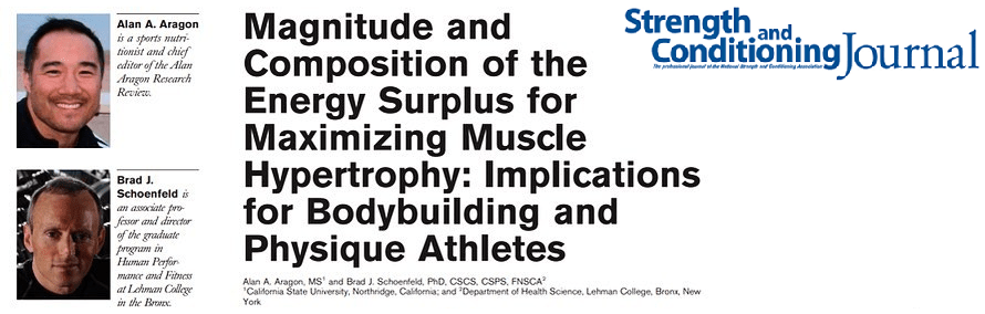Energy surplus and muscle hypertrophy