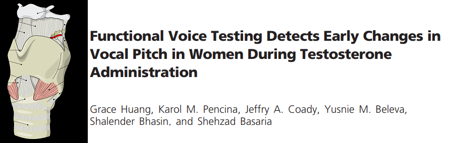 Deepening of the voice in women using anabolic steroids
